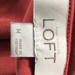 LOFT Dresses - Loft drawstring waist sleeveless coral dress Sz M
